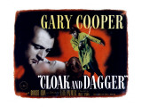 Cloak and Dagger, Gary Cooper, Lilli Palmer, 1946 Prints