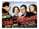 Crime and Punishment, Edward Arnold, Tala Birell, Peter Lorre, Marian Marsh, 1935 Posters