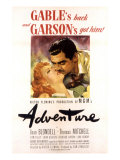 Adventure, Greer Garson, Clark Gable, 1945 Posters