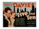 Five and Ten, Leslie Howard, Marion Davies, 1931 Posters