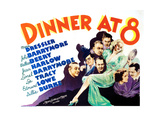 Dinner at Eight, Lee Tracy, Marie Dressler, Wallace Beery, Lionel Barrymore, John Barrymore,1933 Prints
