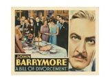 Bill of Divorcement, John Barrymore, 1932 Plakater
