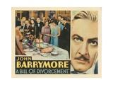 Bill of Divorcement, John Barrymore, 1932 Plakater