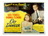 Cry Danger, Rhonda Fleming, Dick Powell, 1951 Láminas
