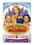 How to Marry a Millionaire, Betty Grable, Marilyn Monroe, Lauren Bacall, 1953 Poster