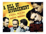 Bill of Divorcement, Herbert Marshall, Adolphe Menjou, Fay Bainter, Maureen O'Hara, 1940 Plakat