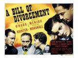 Bill of Divorcement, Herbert Marshall, Adolphe Menjou, Fay Bainter, Maureen O'Hara, 1940 Plakat