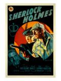 The Adventures of Sherlock Holmes, George Zucco, Ida Lupino, Basil Rathbone, 1939 Print