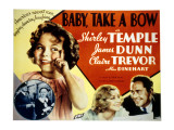 Baby Take a Bow, Shirley Temple, Claire Trevor, James Dunn, 1934 Poster