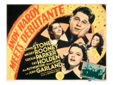 Andy Hardy Meets Debutante, Diana Lewis, Mickey Rooney, Ann Rutherford, Judy Garland, 1940 Poster