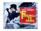 Farewell to Arms, Jennifer Jones, Rock Hudson, 1957 Print