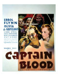 Captain Blood, Errol Flynn, Olivia De Havilland, 1935 Posters