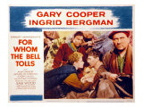 For Whom the Bell Tolls, Katina Paxinou, Ingrid Bergman, Gary Cooper, 1943 Posters
