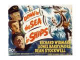 Down to the Sea in Ships, Lionel Barrymore, Dean Stockwell, Richard Widmark, 1949 Photo
