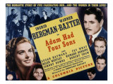 Adam Had Four Sons, Ingrid Bergman, Warner Baxter, Johnny Downs, Richard Denning, Robert Shaw, 1941 Posters