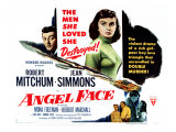 Angel Face, Robert Mitchum, Jean Simmons, 1952 Plakater