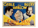 China Seas, Clark Gable, Jean Harlow, Wallace Beery, 1935 Posters