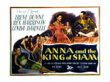 Anna and the King of Siam, Linda Darnell, Irene Dunne, Rex Harrison, 1946 Photo