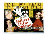 Father&#39;s Little Dividend, Joan Bennett, Spencer Tracy, Elizabeth Taylor, Don Taylor, 1951 Poster