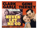 Never Let Me Go, Clark Gable, Gene Tierney, 1953 Print