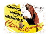 Christmas in Connecticut, Sydney Greenstreet, Dennis Morgan, Barbara Stanwyck, 1945 Photo