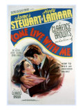 Come Live with Me, Hedy Lamarr, James Stewart, 1941 Poster