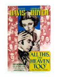 All This and Heaven Too, Bette Davis, Charles Boyer, 1940 Posters