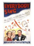 Everybody Sing, Allan Jones, Fanny Brice, Judy Garland, Lynne Carver, 1938 Posters