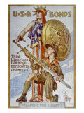 World War I American War Bonds Campaign Poster, 1918 Posters by Joseph Christian Leyendecker