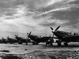 World War II, British Spitfire Planes During the Battle of Britain, 1940 Fotografía