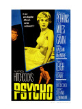Psycho, Anthony Perkins, Janet Leigh, John Gavin, 1960 Poster