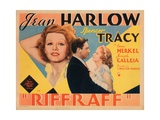 Riffraff, Jean Harlow, Spencer Tracy, 1936 Julisteet