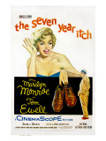 The Seven Year Itch, Marilyn Monroe, Tom Ewell, 1955 Poster
