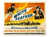 White Feather, Jeffrey Hunter, Robert Wagner, Debra Paget, 1955 Photo