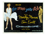 The Seven Year Itch, Marilyn Monroe, Tom Ewell, 1955 Print