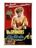 The Spoilers, John Wayne, Marlene Dietrich, 1942 Posters