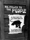 Black Panther Sign, 1970 Prints