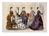 Women's Fashions from 'Godey's Lady's Book' for February, 1870 Photo
