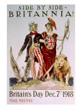 World War I Victory Poster Celebrating the American-British Relationship, 1918 Photo