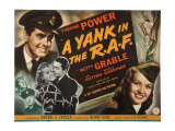 Yank in the R.A.F., Tyrone Power, Betty Grable, John Sutton, Reginald Gardiner, 1941 Photo