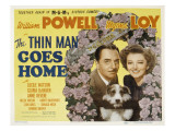 The Thin Man Goes Home, William Powell, Asta the Dog, Myrna Loy, 1944 Photo