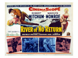 River of No Return, Marilyn Monroe, Robert Mitchum, 1954 Prints