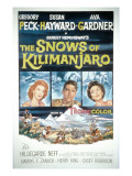 The Snows of Kilimanjaro, Susan Hayward, Gregory Peck, Ava Gardner, 1952 Poster