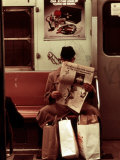 1970s America, Graffiti on a Subway Car, New York City, New York, 1972 Posters