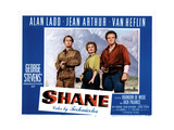 Shane, Alan Ladd, Jean Arthur, Van Heflin, 1953 Prints
