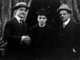 Essanay Studio's Three Star Performers, Francis X. Bushman, Charlie Chaplin, Gilbert Anderson, 1915 Photo
