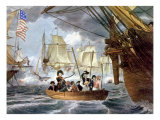 The Battle of Lake Erie, Commodore Perry Transfering His Flag from the Lawrence to the Niagara Photo