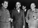The Potsdam Conference, Josef Stalin, Harry S. Truman, Winston Churchill, 1945 Photo