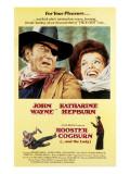 Rooster Cogburn, John Wayne, Katharine Hepburn, 1975 Photo
