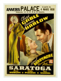 Saratoga, Jean Harlow, Clark Gable, 1937 Photo